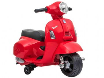 Vespa GTS Scooter Red Licensed Childs Ride On 6v Electric Junior Moped Toy Bike